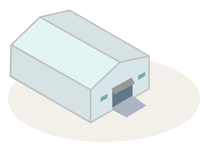 膜構造物(テント倉庫)
